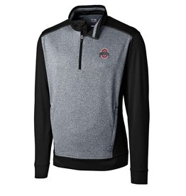 CUTTER & BUCK Ohio State Buckeyes Men's Replay Half Zip Top