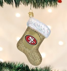 OLD WORLD CHRISTMAS San Francisco 49ers Stocking Ornament