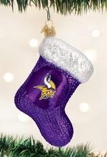 OLD WORLD CHRISTMAS Minnesota Vikings Stocking Ornament
