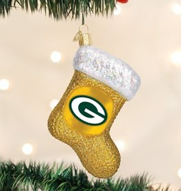 OLD WORLD CHRISTMAS Green Bay Packers Stocking Ornament