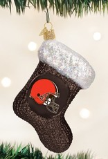 OLD WORLD CHRISTMAS Cleveland Browns Stocking Ornament