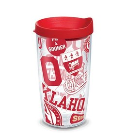 Oklahoma Sooners 16oz Tervis All Over Print Tumbler