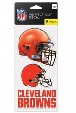 Cleveland Browns Set of Two 4x4 Perfect Cut Decals