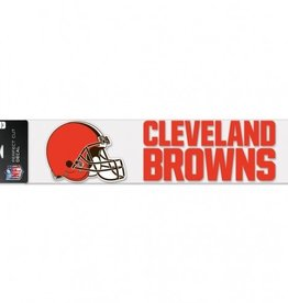 """WINCRAFT Cleveland Browns 4""""x17"""" Perfect Cut Decals"""