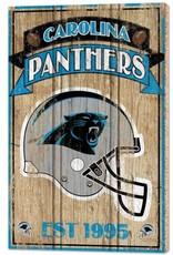 """Carolina Panthers 15""""x24"""" Wood Sign"""