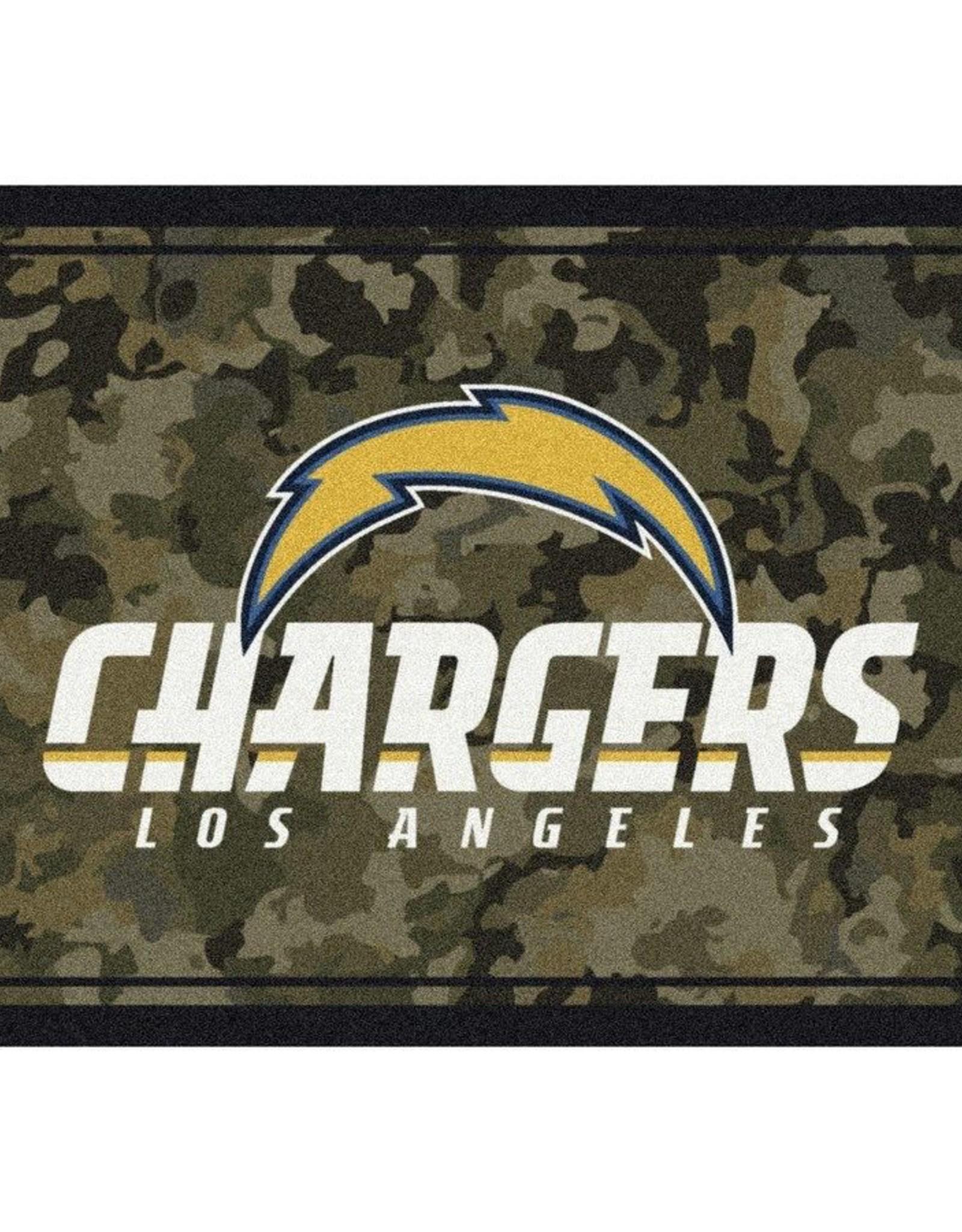"""MILLIKEN Los Angeles Chargers Milliken 46"""" x 64"""" Camo Area Rug"""