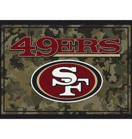 "MILLIKEN San Francisco 49ers Milliken 46"" x 64"" Camo Area Rug"