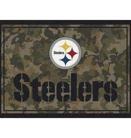 """MILLIKEN Pittsburgh Steelers Milliken 46"""" x 64"""" Camo Area Rug"""