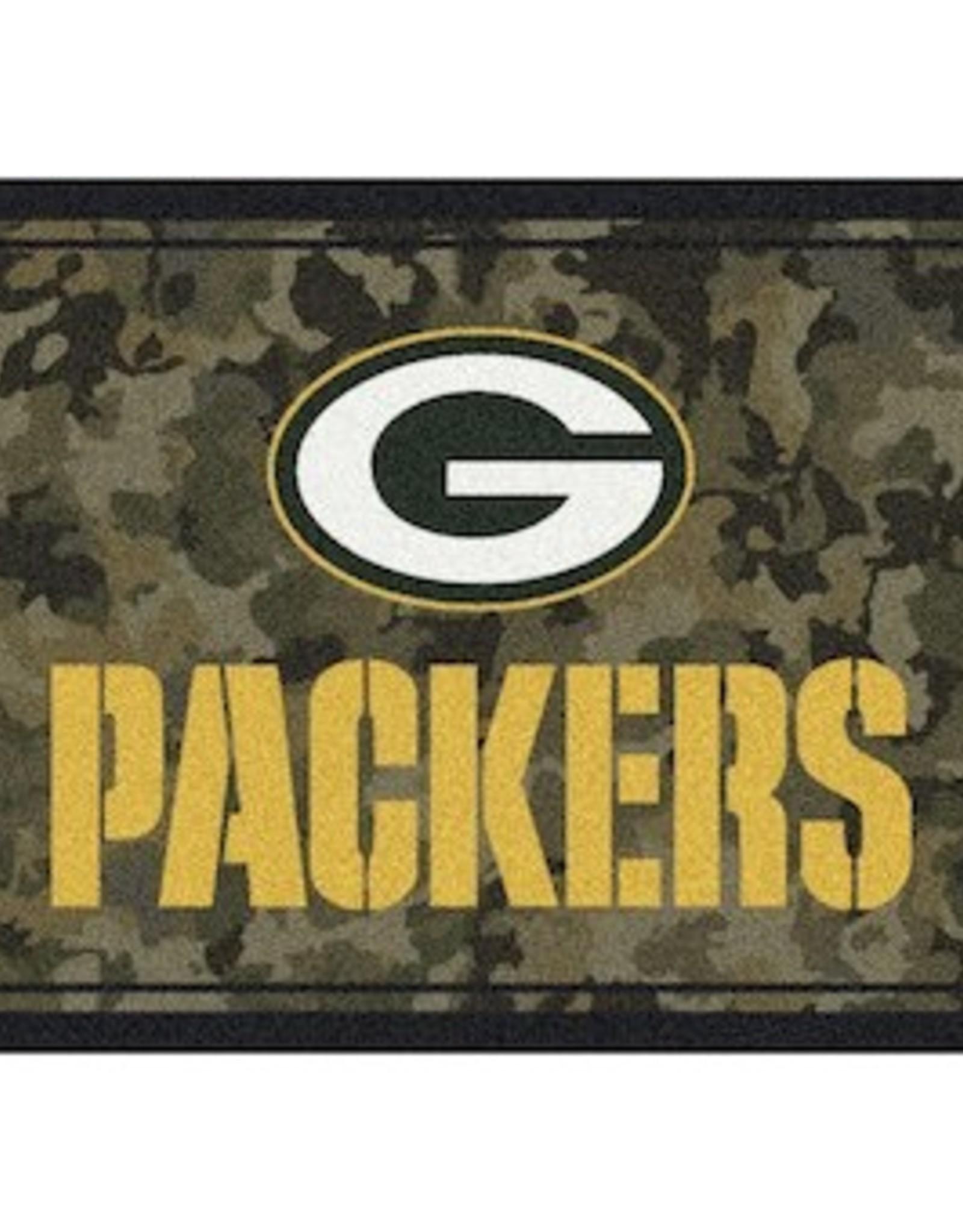 """MILLIKEN Green Bay Packers Milliken 46"""" x 64"""" Camo Area Rug"""