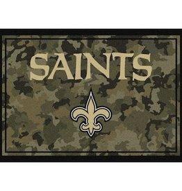 """MILLIKEN New Orleans Saints Milliken 46"""" x 64"""" Camo Area Rug"""