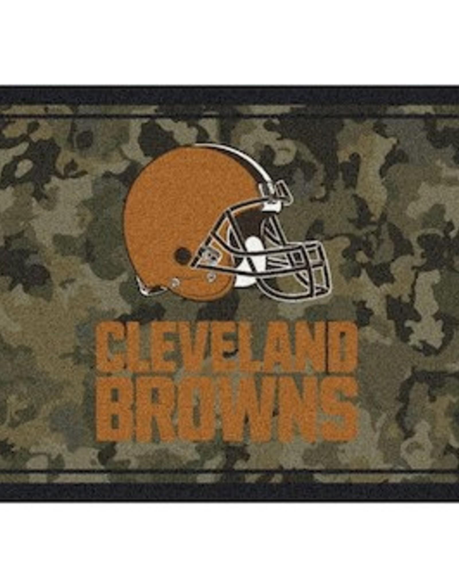 "MILLIKEN Cleveland Browns Milliken 46"" x 64"" Camo Area Rug"