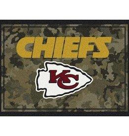 """MILLIKEN Kansas City Chiefs Milliken 46"""" x 64"""" Camo Area Rug"""