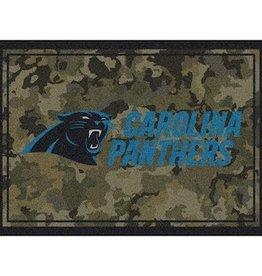 """MILLIKEN Carolina Panthers Milliken 46"""" x 64"""" Camo Area Rug"""