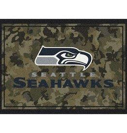 """MILLIKEN Seattle Seahawks Milliken 46"""" x 64"""" Camo Area Rug"""
