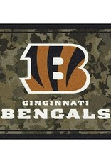 """MILLIKEN Cincinnati Bengals Milliken 46"""" x 64"""" Camo Area Rug"""
