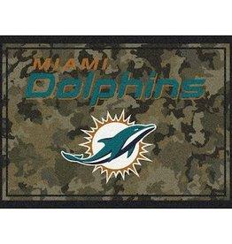 """MILLIKEN Miami Dolphins Milliken 46"""" x 64"""" Camo Area Rug"""