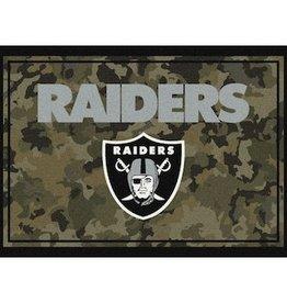 """MILLIKEN Oakland Raiders Milliken 46"""" x 64"""" Camo Area Rug"""