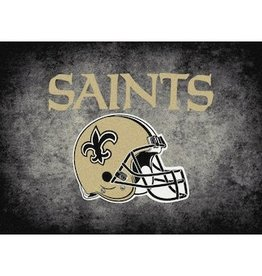 "MILLIKEN New Orleans Saints 46"" x 64"" Distressed Area Rug by Milliken"