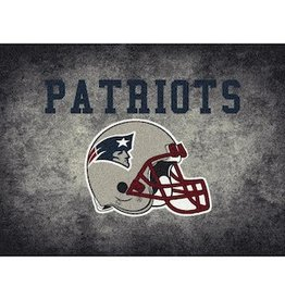 "MILLIKEN New England Patriots 46"" x 64"" Distressed Area Rug by Milliken"