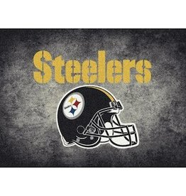 "MILLIKEN Pittsburgh Steelers 46"" x 64"" Distressed Area Rug by Milliken"