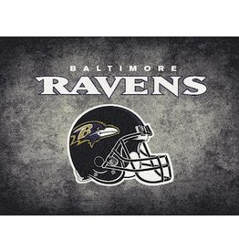 "MILLIKEN Baltimore Ravens 46"" x 64"" Distressed Area Rug by Milliken"