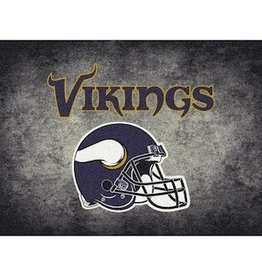 "MILLIKEN Minnesota Vikings 46"" x 64"" Distressed Area Rug by Milliken"