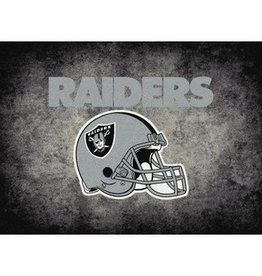 "MILLIKEN Oakland Raiders 46"" x 64"" Distressed Area Rug by Milliken"