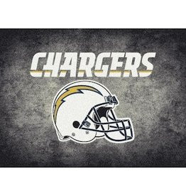 "MILLIKEN Los Angeles Chargers 46"" x 64"" Distressed Area Rug by Milliken"