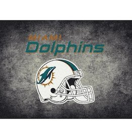 "MILLIKEN Miami Dolphins 46"" x 64"" Distressed Area Rug by Milliken"