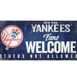 FAN CREATIONS New York Yankees Fans Welcome Sign