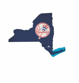 FAN CREATIONS New York Yankees Team Logo State Sign