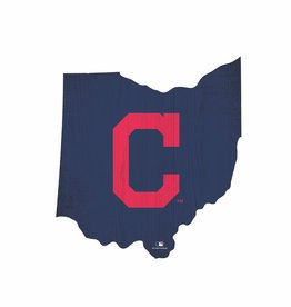 FAN CREATIONS Cleveland Indians Team Logo State Sign