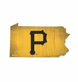 FAN CREATIONS Pittsburgh Pirates Team Logo State Sign