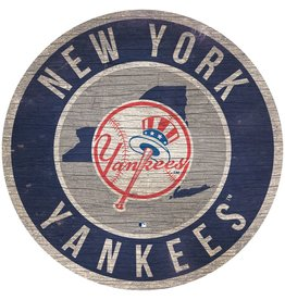 FAN CREATIONS New York Yankees Round State Sign