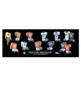 WINNING STREAK SPORTS Denver Broncos Legacy Uniform Wood Plaque