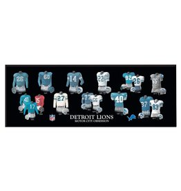 WINNING STREAK SPORTS Detriot Lions Legacy Uniform Wood Plaque