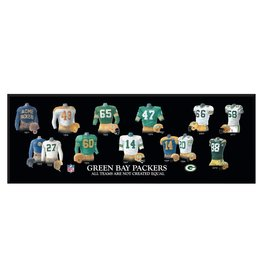 WINNING STREAK SPORTS Green Bay Packers Legacy Uniform Wood Plaque