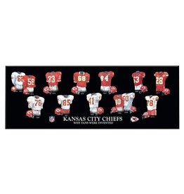 WINNING STREAK SPORTS Kansas City Chiefs Legacy Uniform Wood Plaque