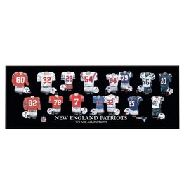 WINNING STREAK SPORTS New England Patriots Legacy Uniform Wood Plaque