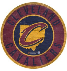 FAN CREATIONS Cleveland Cavaliers Round State Sign