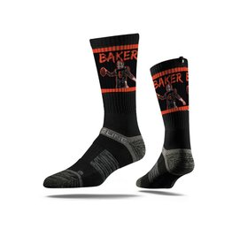 STRIDELINE Cleveland Browns Baker Mayfield Strideline Black Player Performance Crew Socks