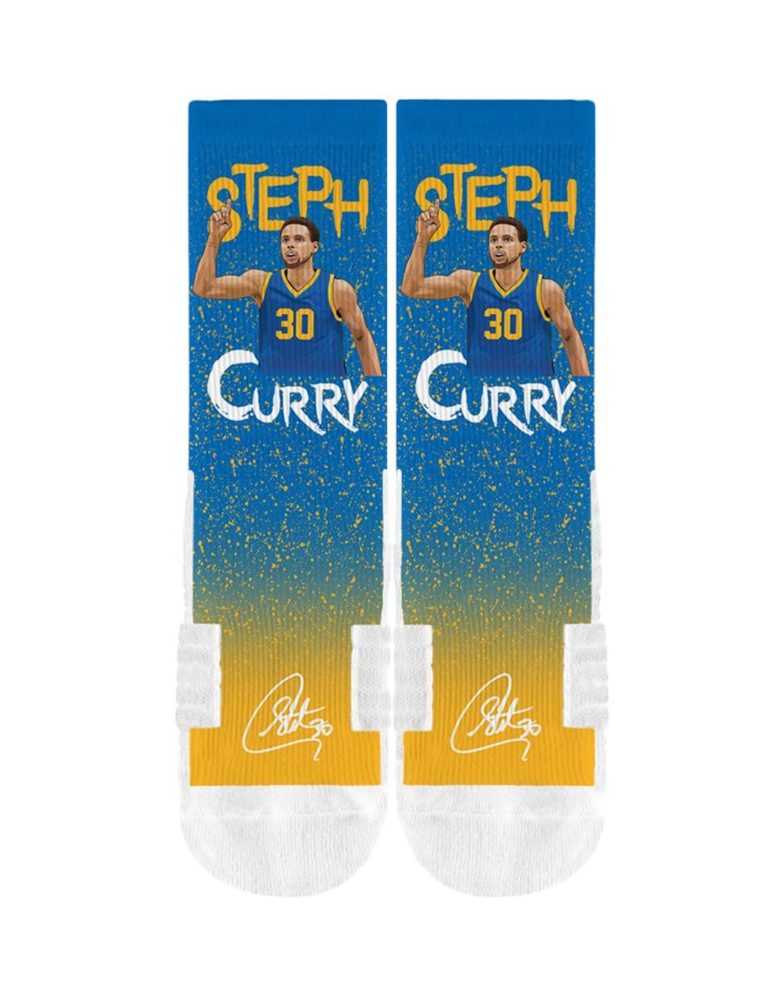 STRIDELINE Golden State Warriors Steph Curry Strideline 'Bless Up' Sublaminated Performance Crew Socks