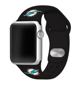 GAMETIME Miami Dolphins Sport Band Compatible with Apple Watch
