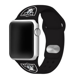 GAMETIME Oakland Raiders Sport Band Compatible with Apple Watch