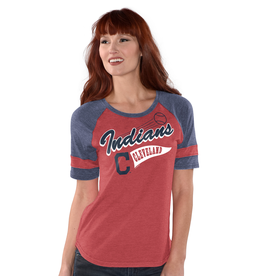 G-III SPORTS Cleveland Indians G-III 4Her by Carl Banks Opening Day Tee