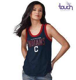 G-III SPORTS Cleveland Indians Touch by Alyssa Milano Varsity Tank