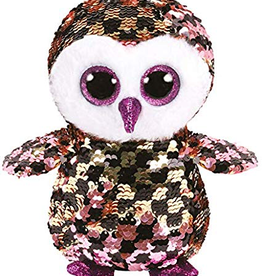 TY TY Checks Pink/Black Sequin Owl MD