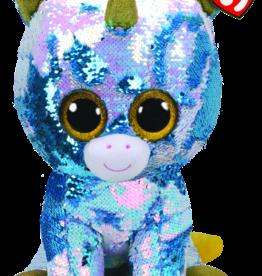 TY TY Dazzle Sequin Blue Unicorn LG