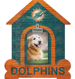 FAN CREATIONS Miami Dolphins Dog House Photo Clip Frame
