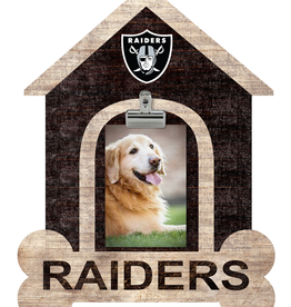 FAN CREATIONS Oakland Raiders Dog House Photo Clip Frame